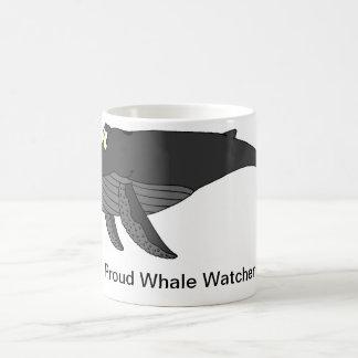Dibujo animado de la ballena jorobada tazas