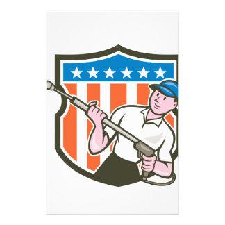 Dibujo animado de la bandera de los E.E.U.U. del Papelería