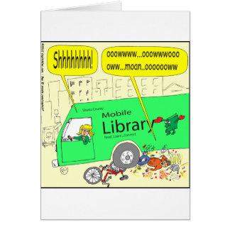 dibujo animado de la biblioteca móvil 297 tarjeta de felicitación