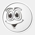 Dibujo animado de la bola de piscina de la señal pegatina redonda