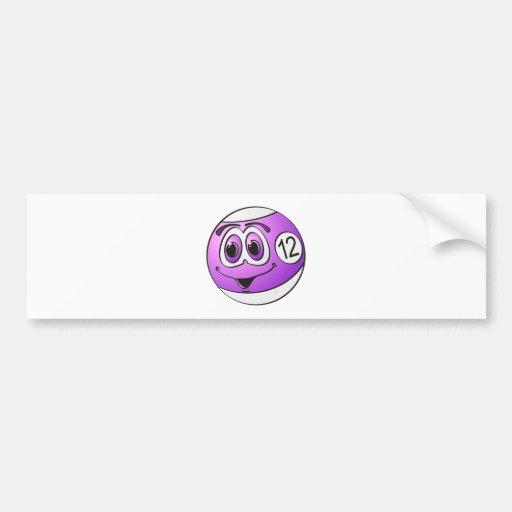 Dibujo animado de la bola de piscina doce pegatina de parachoque