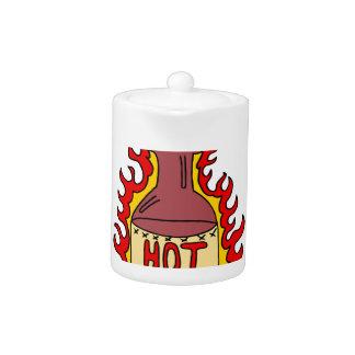 Dibujo animado de la botella de la salsa caliente