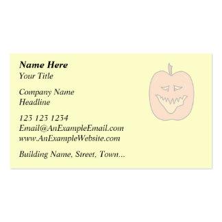 Dibujo animado de la calabaza de Halloween. Colore Plantilla De Tarjeta De Visita