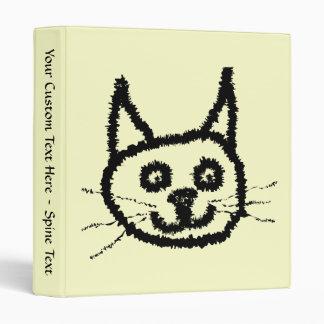 """Dibujo animado de la cara del gato negro. En la Carpeta 1"""""""