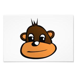 Dibujo animado de la cara del mono impresion fotografica