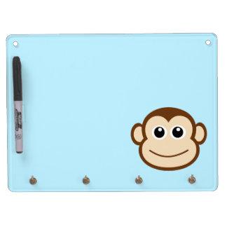 Dibujo animado de la cara del mono tablero blanco
