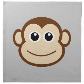 Dibujo animado de la cara del mono servilletas