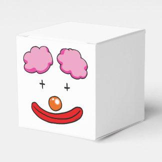 dibujo animado de la cara del payaso de circo caja para regalo de boda