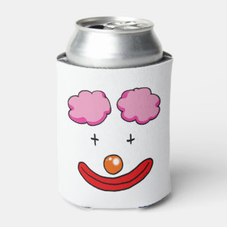 dibujo animado de la cara del payaso de circo enfriador de latas