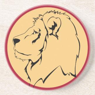 Dibujo animado de la caricatura del león posavasos para bebidas