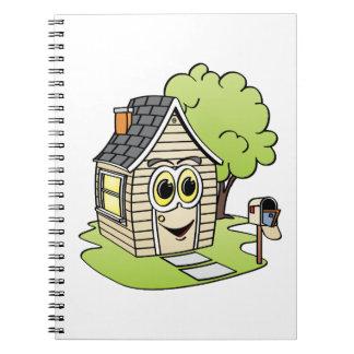 Dibujo animado de la casa del moreno notebook