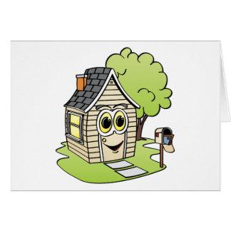 Dibujo animado de la casa del moreno tarjeta de felicitación