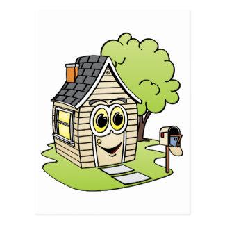 Dibujo animado de la casa del moreno tarjetas postales