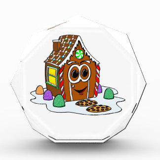 Dibujo animado de la casa del pan del jengibre