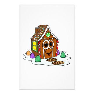 Dibujo animado de la casa del pan del jengibre papelería de diseño