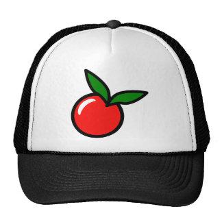 Dibujo animado de la cereza de Apple Gorros Bordados