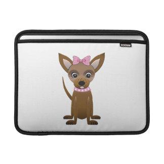 Dibujo animado de la chihuahua fundas MacBook