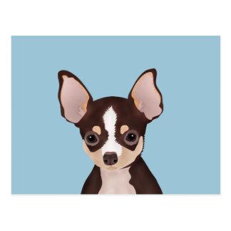 Dibujo animado de la chihuahua postal