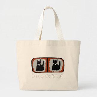 Dibujo animado de la ciencia del gato de bolsa tela grande