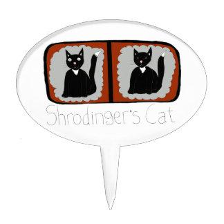 Dibujo animado de la ciencia del gato de Shrodinge Decoración De Tarta