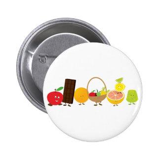 dibujo animado de la comida del Multi-carácter Pins