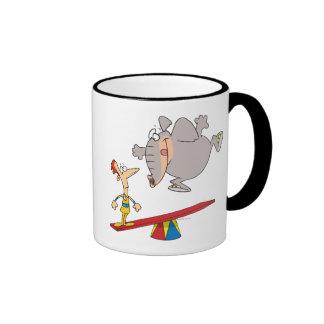 dibujo animado de la condenación del totter del ba tazas de café