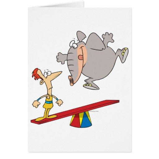 dibujo animado de la condenación del totter del tarjeta de felicitación