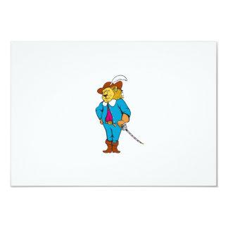 """Dibujo animado de la espada del gorra del león del invitación 3.5"""" x 5"""""""