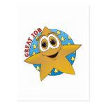 Dibujo animado de la estrella del oro postal