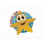 Dibujo animado de la estrella del oro postales