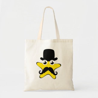 Dibujo animado de la estrella del sombrero de copa bolsas lienzo