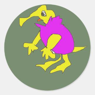 Dibujo animado de la forma del carácter de MUMU Pegatinas Redondas