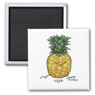 Dibujo animado de la fruta - fruta de la piña imán para frigorifico