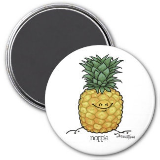Dibujo animado de la fruta - fruta de la piña imán de nevera