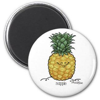 Dibujo animado de la fruta - fruta de la piña iman