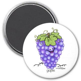 Dibujo animado de la fruta - uvas iman de frigorífico