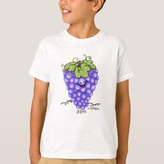 Dibujo animado de la fruta - uvas playera