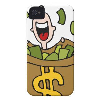 Dibujo animado de la ganancia inesperada iPhone 4 Case-Mate protector