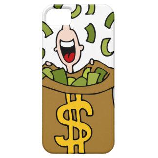 Dibujo animado de la ganancia inesperada iPhone 5 coberturas