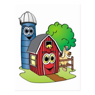 Dibujo animado de la granja del caballo de Silo Postal