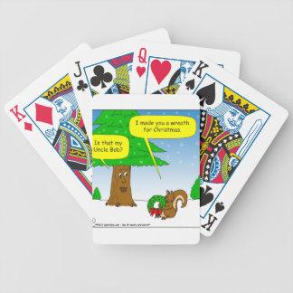 dibujo animado de la guirnalda del navidad de la baraja de cartas