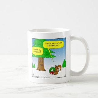 dibujo animado de la guirnalda del navidad de la taza de café