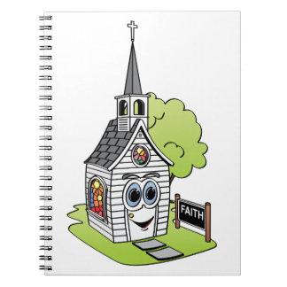 Dibujo animado de la iglesia libro de apuntes