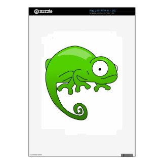 dibujo animado de la iguana del lagarto verde iPad 2 skins