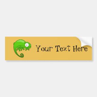 dibujo animado de la iguana del lagarto verde pegatina para auto