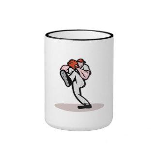 Dibujo animado de la jarra del béisbol taza de café