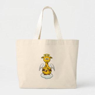 Dibujo animado de la jirafa del ángel bolsas