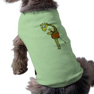 """Dibujo animado de la """"jirafa divertida"""" de la ROPA Camisetas De Mascota"""