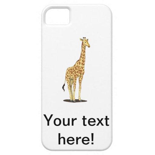 Dibujo animado de la jirafa iPhone 5 Case-Mate funda