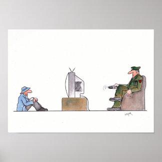 Dibujo animado de la libertad de información póster